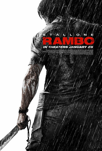 Primer cartel de Rambo (a secas)